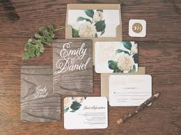 wedding invitation set woodland floral wedding invitation correspondence set