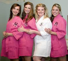 waffle robes for bridesmaids monogrammed bridesmaid robe with name and initial personalized
