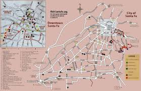 Santa Fe New Mexico Map by Santa Fe Nm
