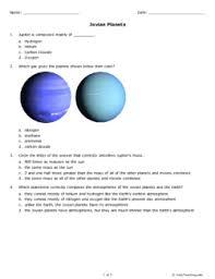 jovian planets grade 9 free printable tests and worksheets