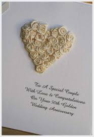 50th wedding anniversary card message wedding card design heart shape artificial flower
