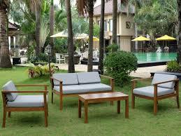 canapé teck jardin de jardin akuda en teck 1 canapé 2 places 2 fauteuils et 1