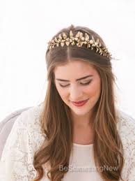gold headbands wedding trends be something new