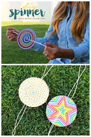 diy paper spinner for endless fun craft summer and camping