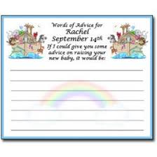 baby shower advice cards noah s ark baby shower advice cards