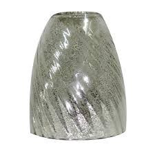 Vanity Light Shades Shop Portfolio 5 5 In H 4 75 In W Mercury Glass Bell Vanity Light