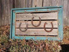 Horseshoe Decoration Ideas Rustic Framed Horseshoe Art From Reclaimed Wood Rustic Farmhouse