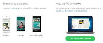 telecharger bureau whatsapp lance une application de bureau pour pc windows et pour