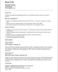 Resume For Fashion Designer Job Fashion Resume Samples 8 Best Images About Fashion Resume Samples