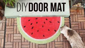 fruity door mats diy youtube