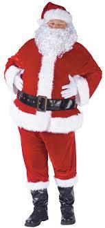 santa suit complete velour santa suit christmas