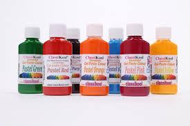 classikool 30ml pots of pastel food colouring paste 7 colour