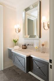 marble powder room powder room traditional with gray floor tile