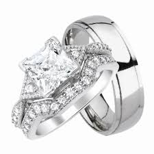 cheap wedding rings sets for him and wedding ideas matching wedding sets his and hers silver ring for