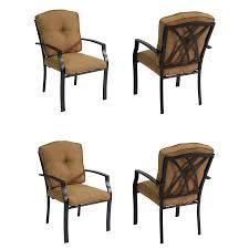 Patio Furniture Cushions Lowes - shop garden treasures cascade creek 4 count black steel stackable