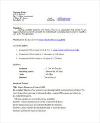 Resume Templates For Freshers Basic Fresher Resume Templates 4 Free Word Pdf Format Download