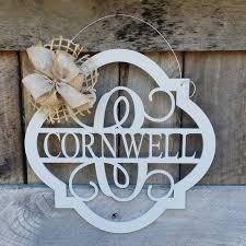 housewarming wedding gift idea 20 wooden monogram door hanger painted family monogram wedding