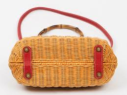 wicker basket with leather handles aspen rattan handbag purse for the peoplepurse for the people