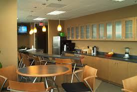 office incredible break room design with white kitchen cabinet