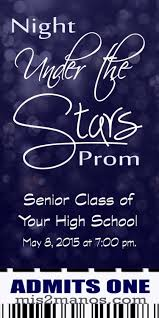 under the stars graduation ticket or prom party ticket