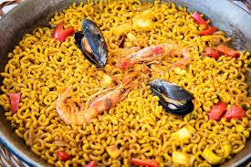 espagne cuisine paella de pâtes de fruits de mer cuisine espagnole photo stock