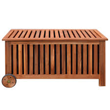 Patio Cushion Storage Bin by Wood Outdoor Patio Garden Cushion Storage Box Acacia Wood 46