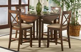 small dining table set for 4 minimalist space dining room with dark brown walnut drop leaf small