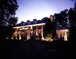 outdoor and landscape lighting in baltimore facade architectural