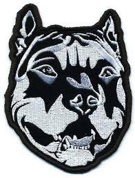 biker apparel amazon com embroidered iron on patch pitbull dog 4