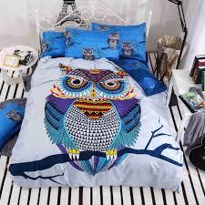 4 3pcs cotton bedding kids owl u0027s boys girls owl bedding set 3d bed