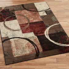 Brown And Gray Area Rug Arcade Contemporary Abstract Area Rugs