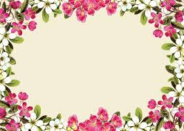 pink floral borders free digital flower frame png and flower
