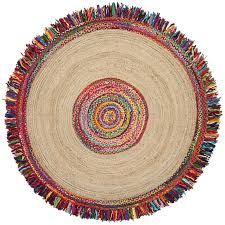 st croix brilliant ribbon round racetrack hand loomed yellow red