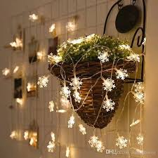outdoor hanging snowflake lights small snowflake led string lights 3m christmas led strings light