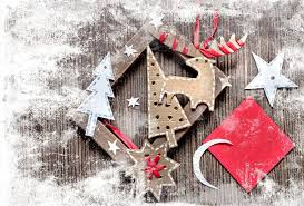 vintage vintage crafts ribbon figures cardboard paper reindeer