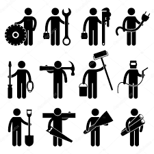 Factory Laborer Job Description Construction Worker Job Icon Pictogram Sign Symbol U2014 Stock Vector
