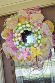 Easter Decorations With Deco Mesh by 167 Best Wreath Easter Images On Pinterest Easter Wreaths