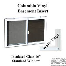 replacement sliding basement window with insulated glass