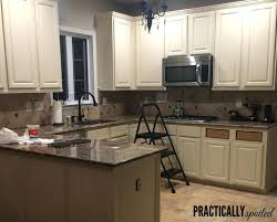 painting oak kitchen cabinets cream painted oak kitchen cabinets faced