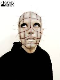 hellraiser pinhead halloween monster makeup by damnitsjann on