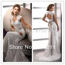 turmec lace cap sleeve keyhole back wedding dress