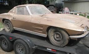 split window corvette value barn find 1963 corvette split window coupe stored for 41 years