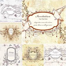 wedding invitations vector lovely vintage wedding invitation vector vintage wedding ideas
