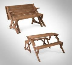 Wooden Folding Picnic Table Folding Picnic Table To Bench
