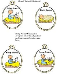 printable baby jesus ornaments template