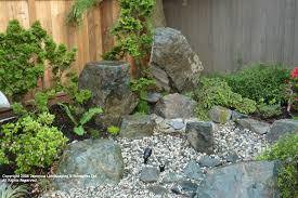 Small Rock Garden Images Rocks In Landscape Design With Lofty Inspiration Small