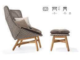Poolside Chair Patio U0026 Things Mbrace Collection Dedon Lounge Chair Wing Chair