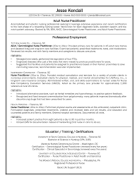 Sample Comprehensive Resume For Nurses 2016 Nurse Practitioner Sample Resume Recentresumes Com