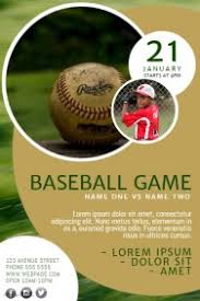 customizable design templates for baseball flyer template