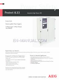 user u0027s manual for postal equipment aeg industrial high power ups